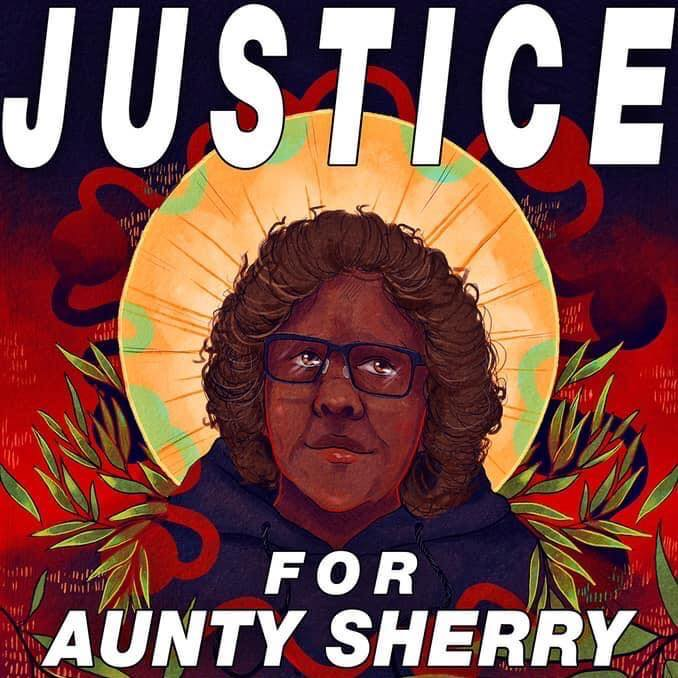 Justice Aunty Sherry vigil march Brisbane poster