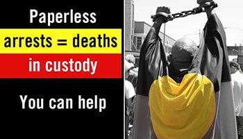 Paperless arrests = deaths in custody you can help (c) AAP Image/NEWZULU/LESLY LOTHA