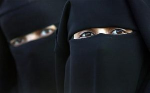 Facial covering such as a burka