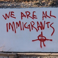 graffiti immigrants refugee protest