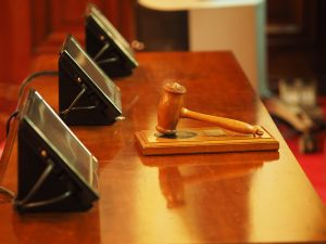 Judge's gavel in a legal case