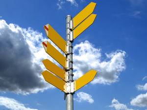 signposts showing different directions