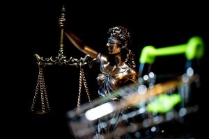 Lady Justice, a woman who is symbol of the law and courts for sale?