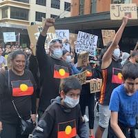 Crowd Protesting Sydney Aboriginal
