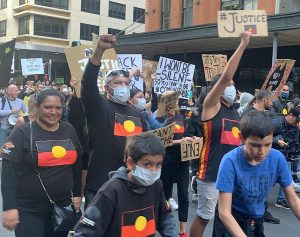 Crowd Protesting Sydney Aboriginal