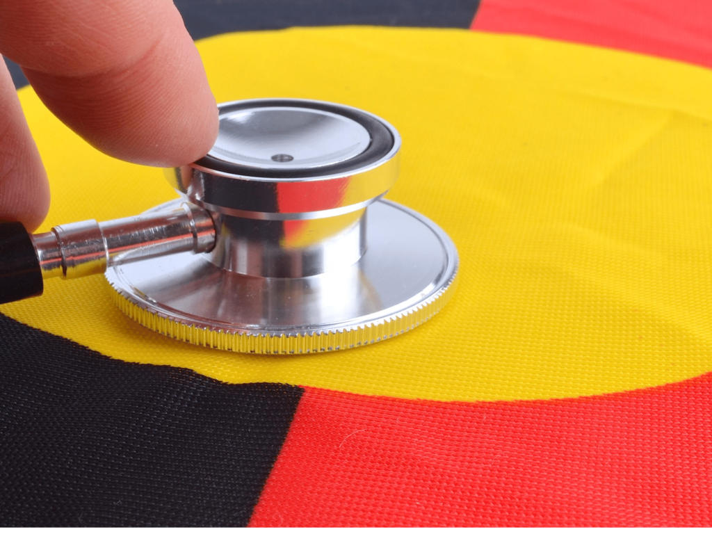 Stethoscope to Aboriginal Flag - indigenous health