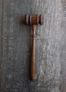 Gavel used in legal decisions