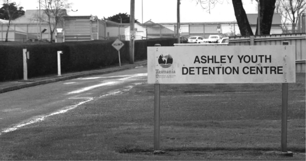 Ashley Youth Detention Centre sign in Tasmania