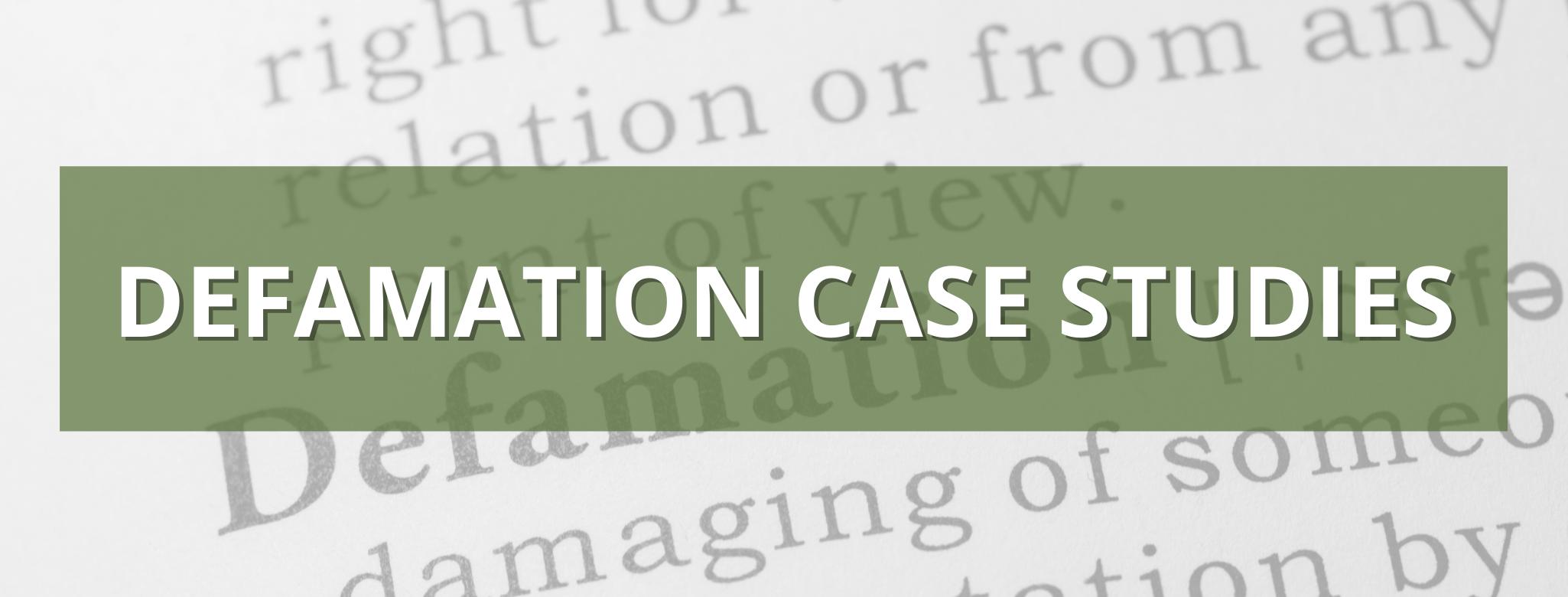 defamation case studies