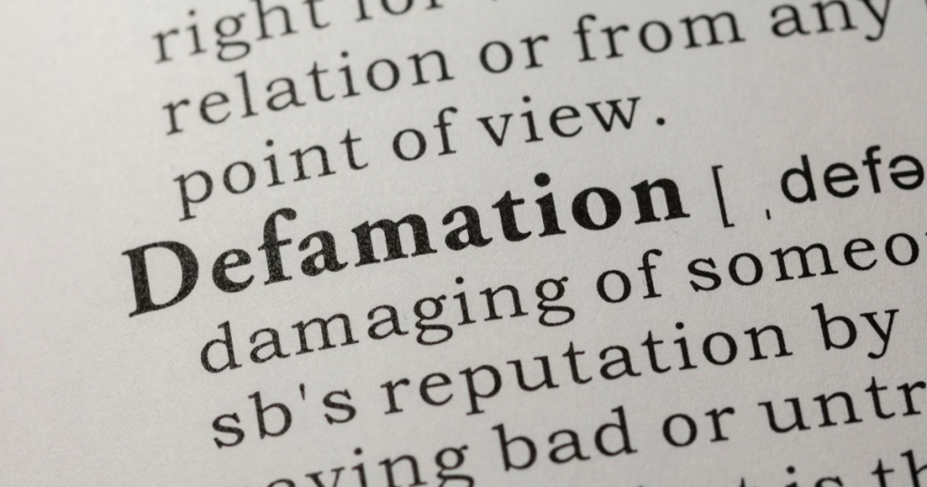 Defamation definition