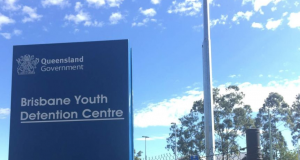 Brisbane Youth Detention Centre sign in Wacol in western suburbs