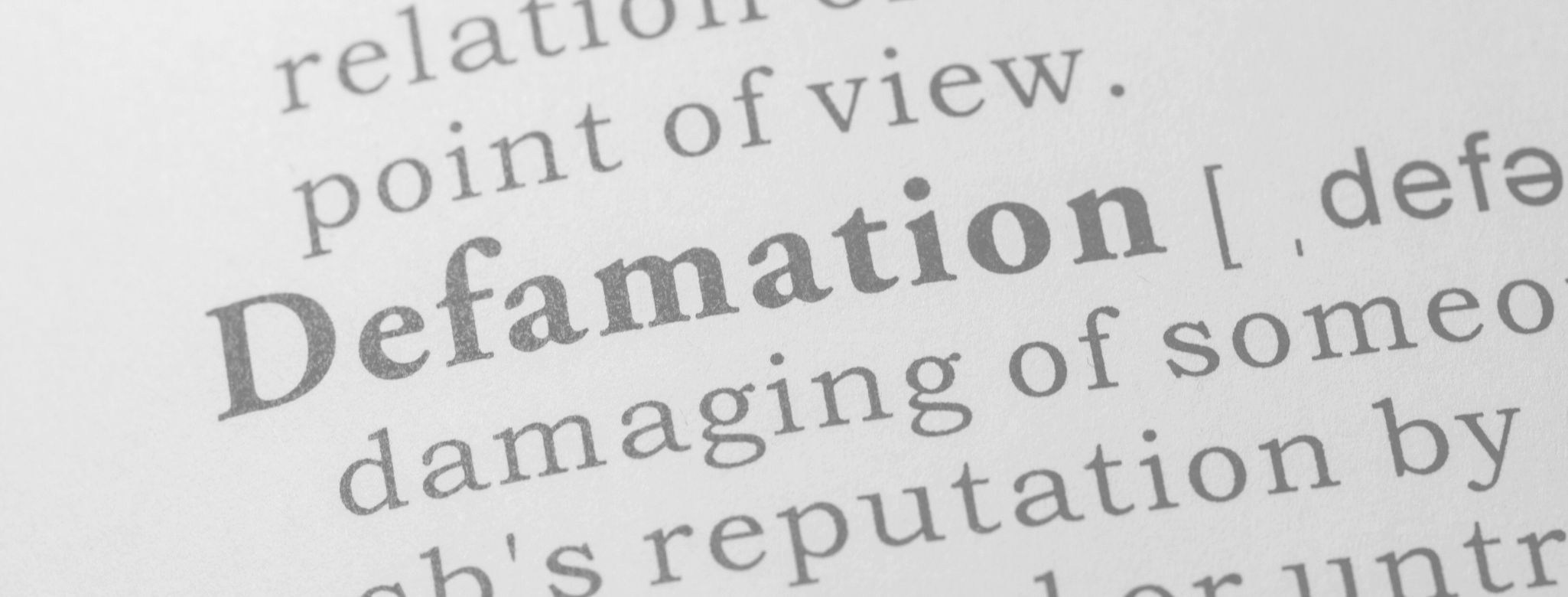 Successful Defamation Outcomes - definition