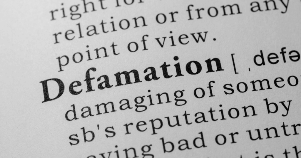 defamation definition from dictionary