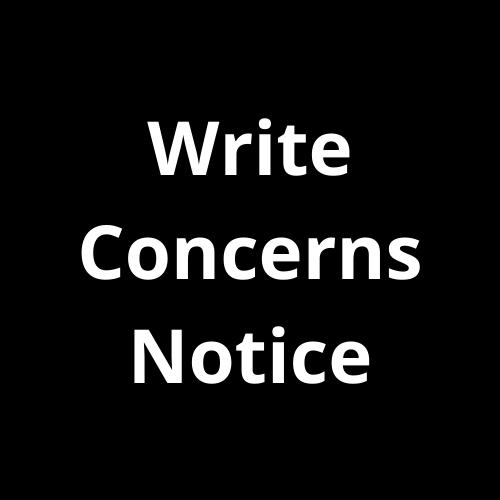 Defamation Concerns notice