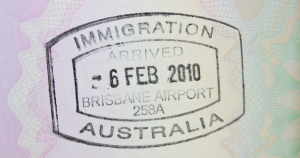 Immigration Australia visa stamp