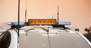 Police car light array