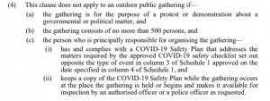 Legislation re the COVID-19 public health order