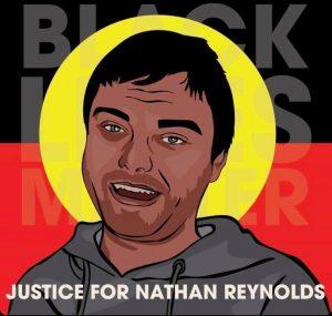 Nathan Reynolds Death In Custody Aboriginal Flag BLM