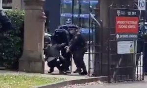 Professor Simon Rice thrown to ground nsw police at Sydney university protest