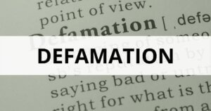 Defamation lawyers