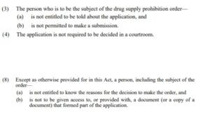 Drug Supply Prohibition Order Snippets