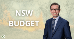 NSW Treasurer Dominic Perrottet and budget
