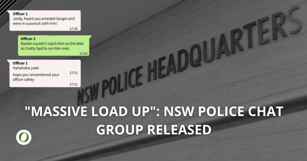 NSW Police chat revealed whatsapp