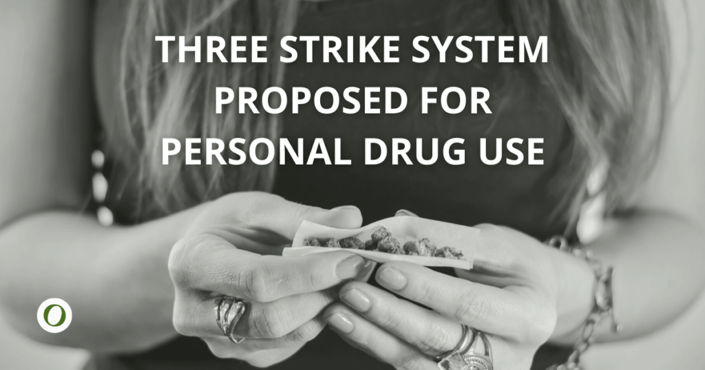3 strike system proposed for personal drug use