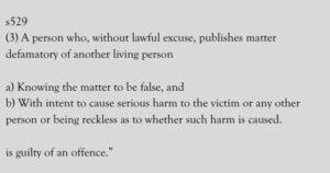 Criminal defamation