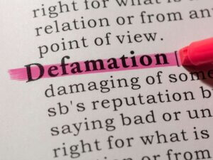 Defamation definition in dictionary