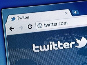 Twitter in browser tab
