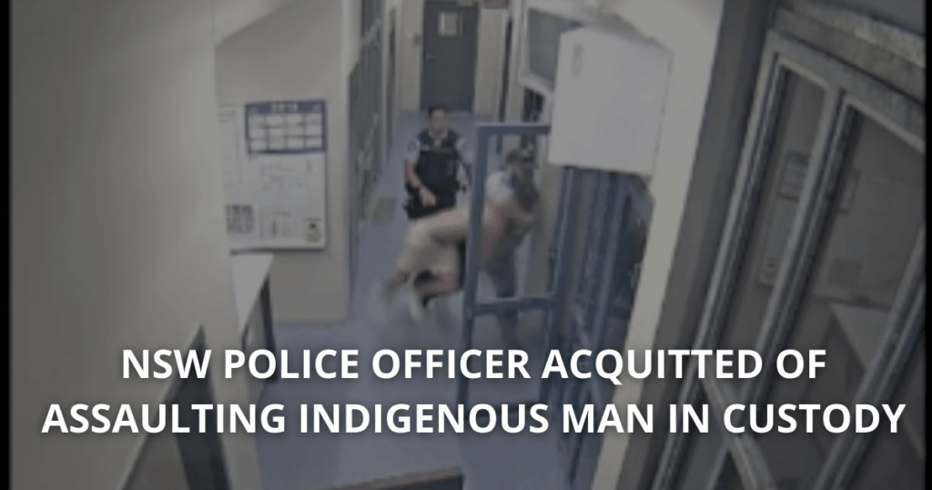 Senior Constable Murray Cleared of charges of assaulting Patrick Little