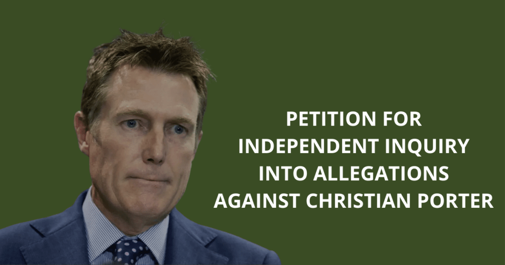 Petition for independent inquiry into allegations against Christian Porter