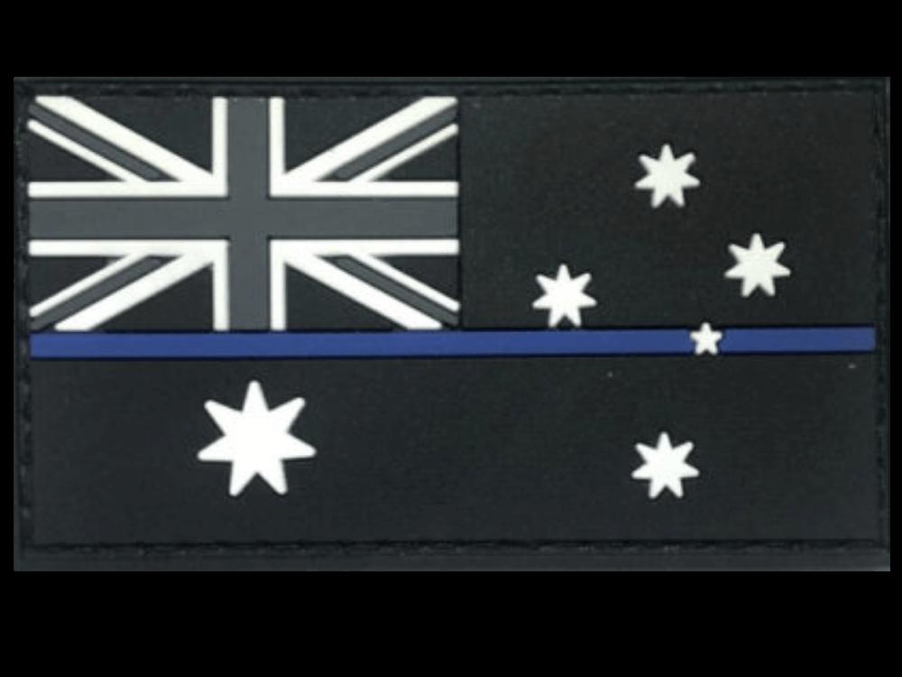 Thin Blue Line Australian flag patch