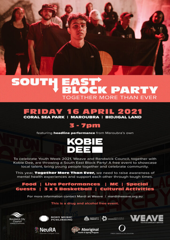 Maroubra Block Party to celebrate Youth Week