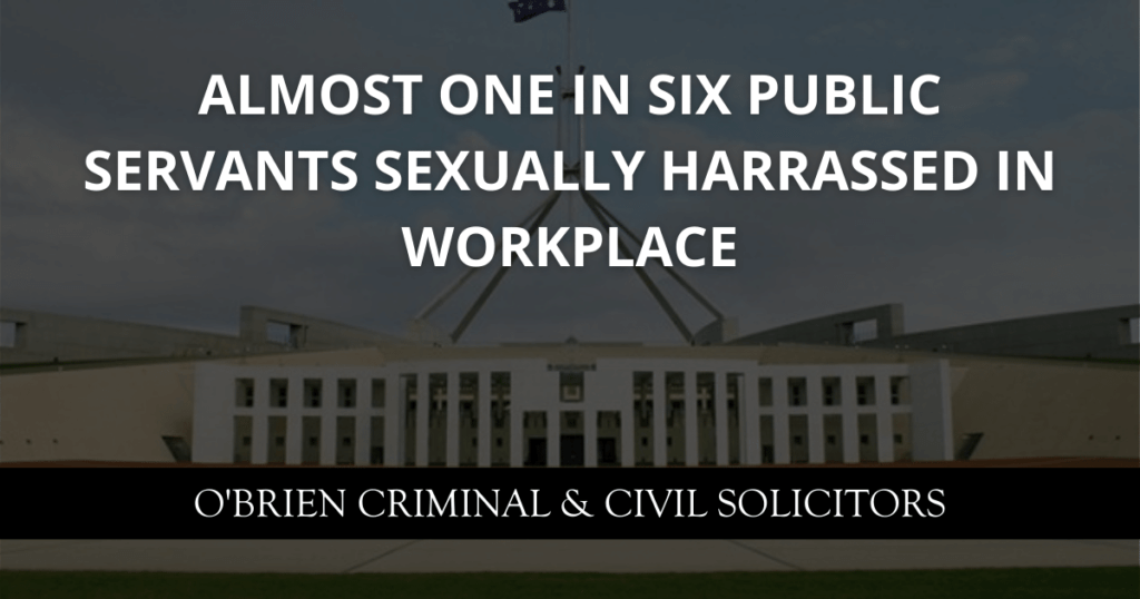 Almost one in six public servants sexually harrassed in workplace