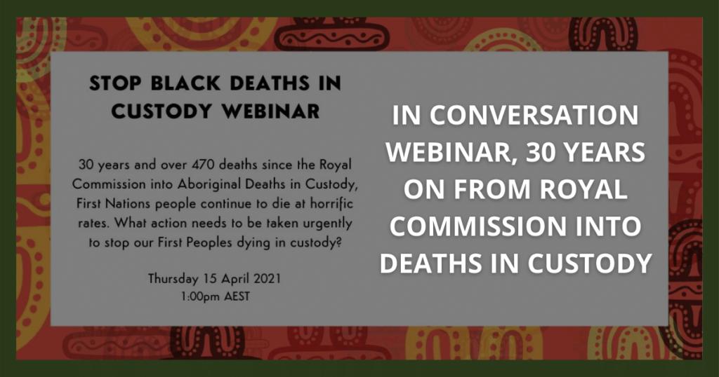 Stop Black Deaths in Custody Webinar