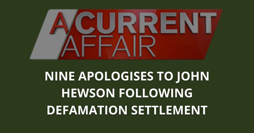 Nine apologises to John Hewson following defamation settlement