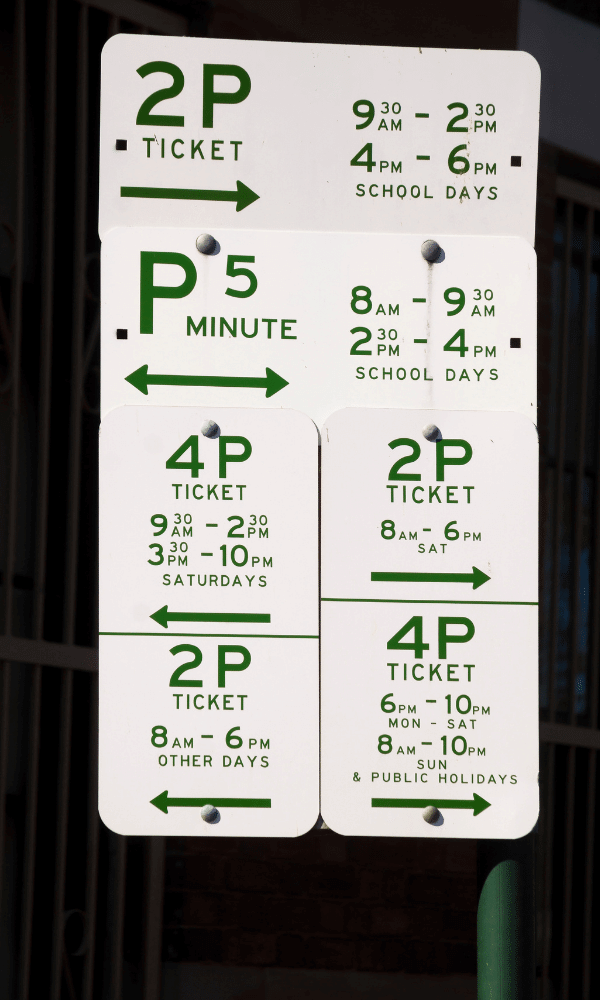 Parking signs in Sydney CBD can be extremely confusing!