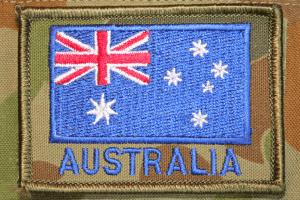 Australian flag military uniform patch
