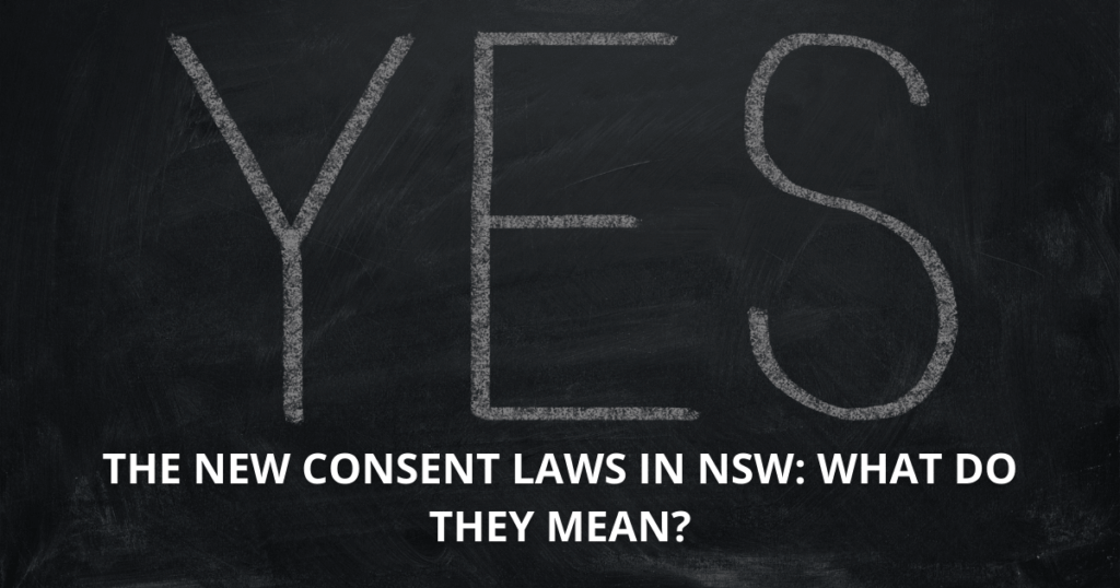 The new consent laws in NSW What do they mean