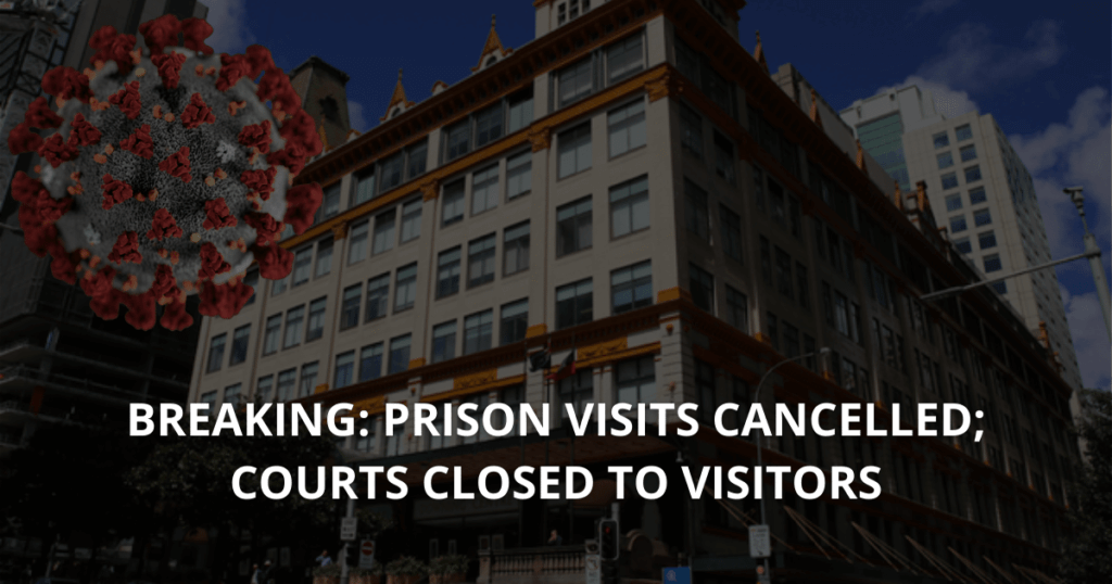 BREAKING Prison visits cancelled; Courts closed to visitors