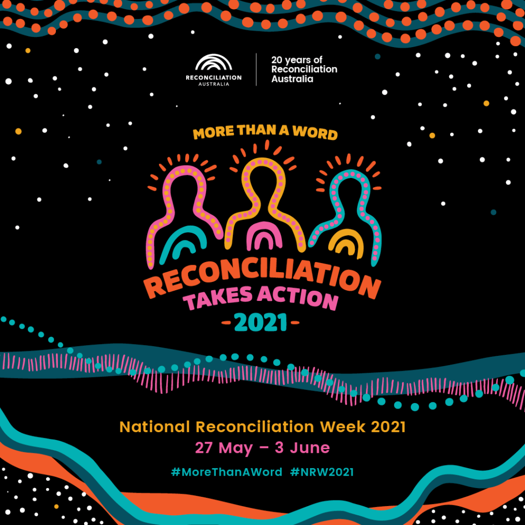 National Reconciliation Week 2021 by 33 Creatie, featuring the artwork of artist Jessica Johnson.