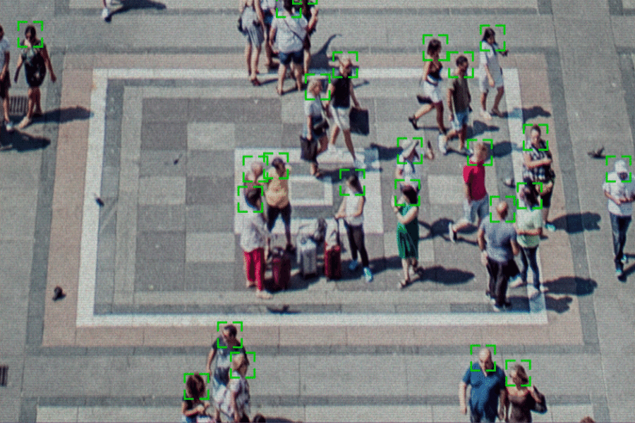 Facial recognition software can be used in public spaces