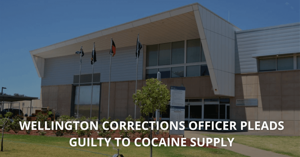 Wellington corrections officer pleads guilty to cocaine supply