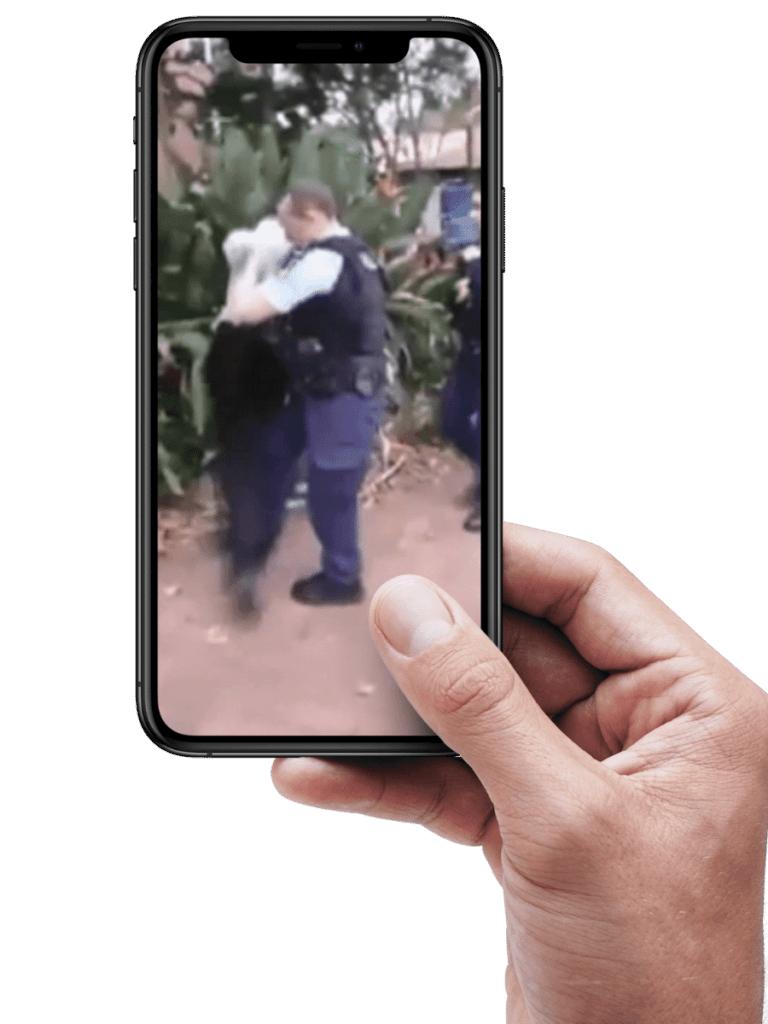 phone camera showing police brutality