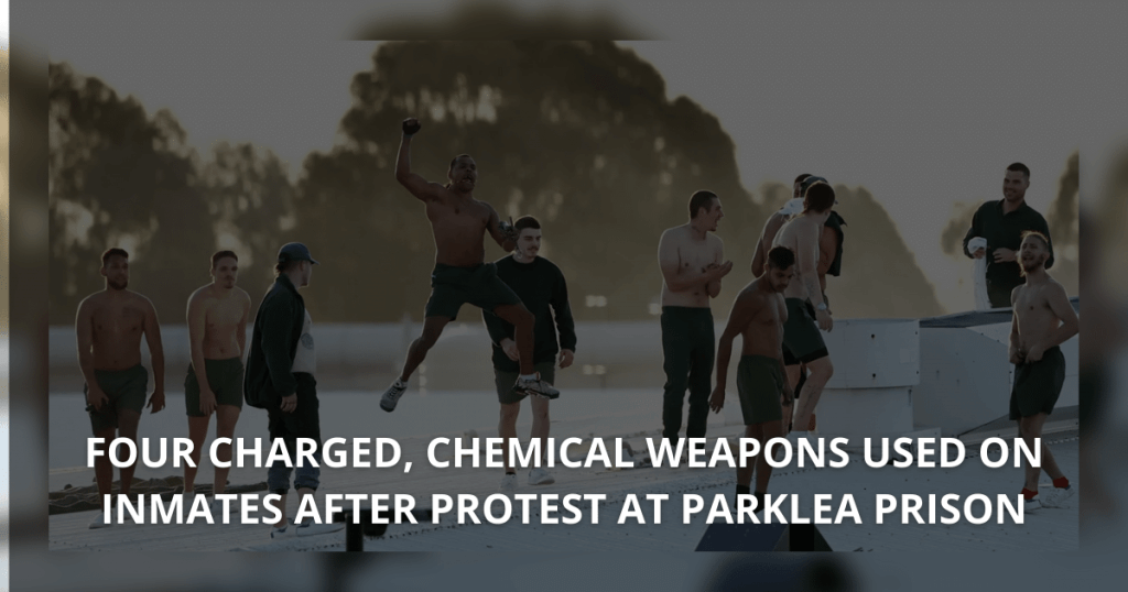Four charged, chemical weapons used on inmates after protest at Parklea Prison