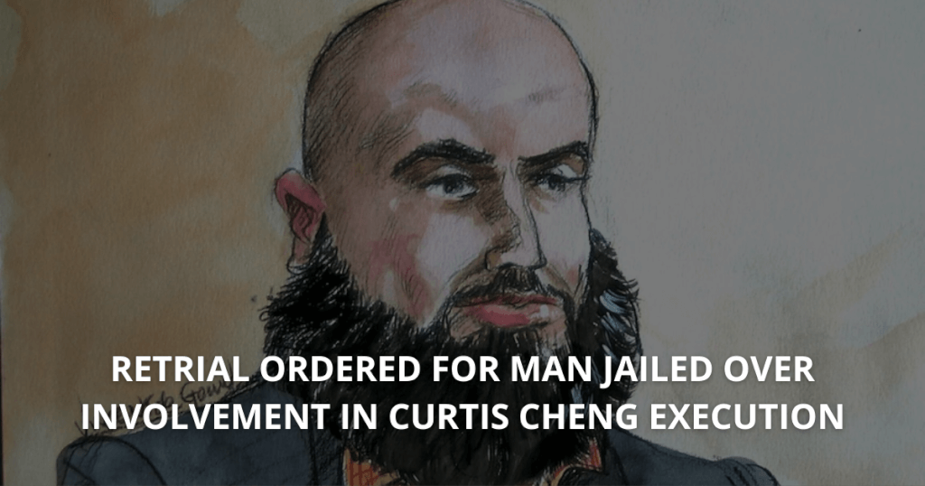 Retrial ordered for man jailed over involvement in Curtis Cheng execution