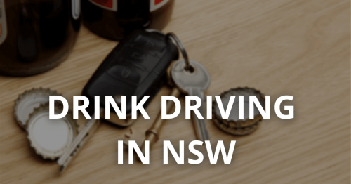 Drink Driving laws in NSW
